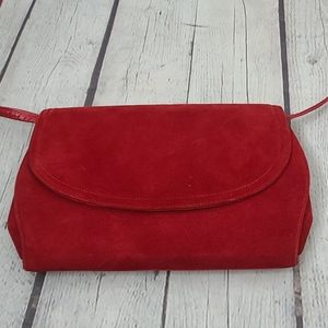 Vintage Frenchy Of California Red Shoulder Purse